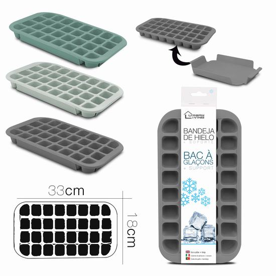 ICE CUBE TRAY W/ HOLDER 33 x 18  x 3 cm