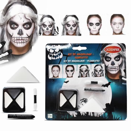 KIT MAQUILLAGE 'HALLOWEEN - SQUELETTE