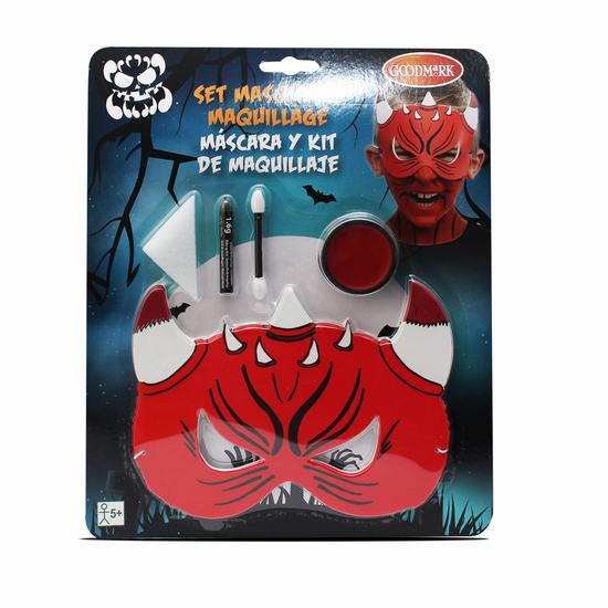 KIT MAQUILLAGE HALLOWEEN - MASQUE DIABLE