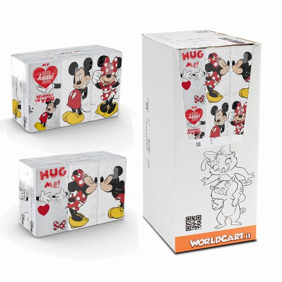 PAÑUELOS DE PAPEL X 6 MICKEY Y MINNIE MOUSE