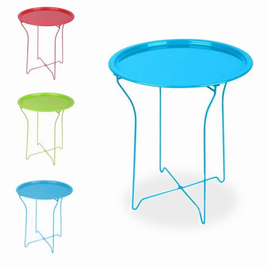 TABLE METAL 45X45X52 COULEUR