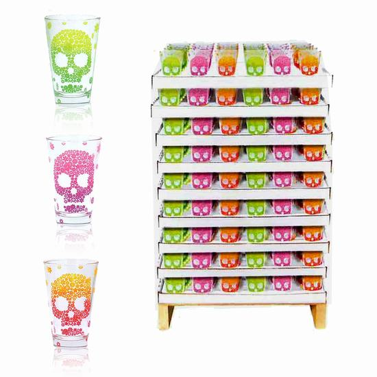 VASO DECORADO CALAVERA X 1  31cl