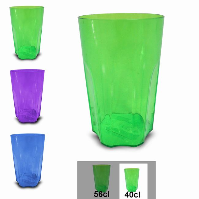 PLASTIC GLASS 40CL