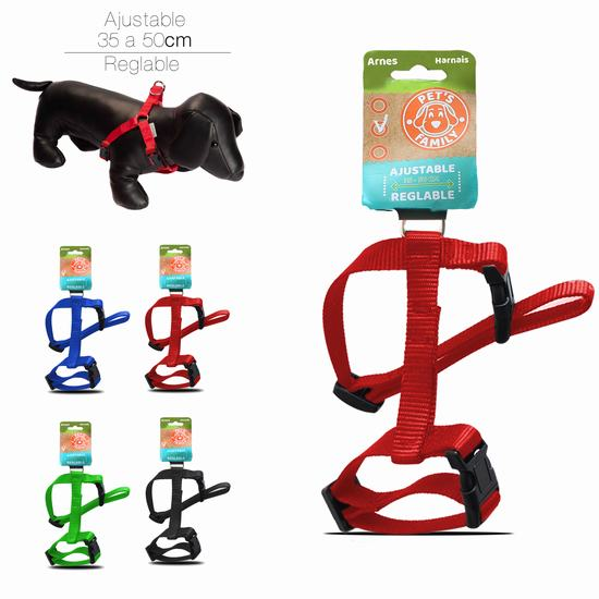 DOG HARNESS 2 X 35 - 50 CM BLACK - BLUE - RED - LIME