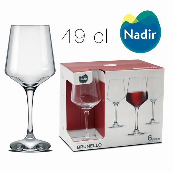 BRUNELLO WATER STEMWARE 49 cl X6